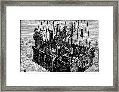 'zenith' Balloon Ascent Framed Print by Science Photo Library
