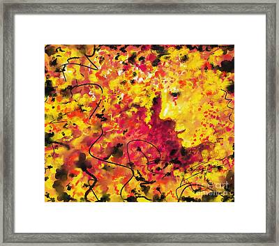 Framed Print featuring the painting Zenith In July by S G
