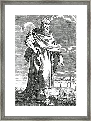 Zeno Of Citium, Ancient Greek Framed Print by Science Source
