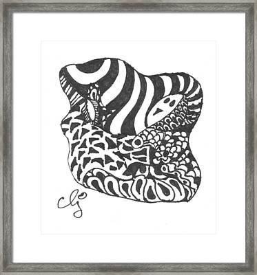 Zenoodle Uno Framed Print by Cris Johnson