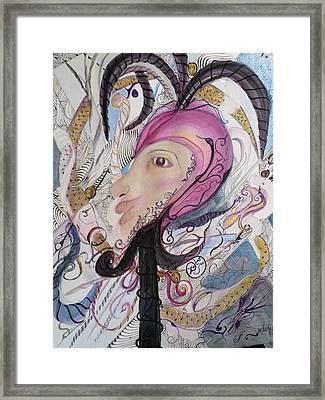 Zentangle Jester Framed Print