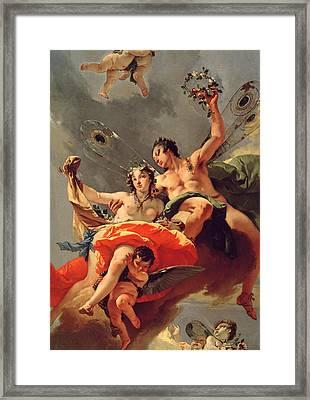 Zephyr And Flora Framed Print by Giovanni Battista Tiepolo