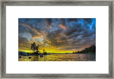 Framed Print featuring the photograph Zephyr Cove by Sean Foster