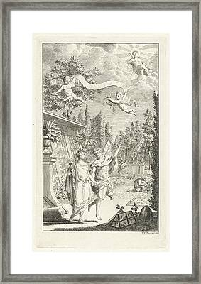 Zephyrus And Flora, Print Maker Cornelis Van Noorde Framed Print