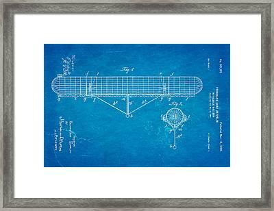 Zeppelin Navigable Balloon Patent Art 1899 Blueprint Framed Print