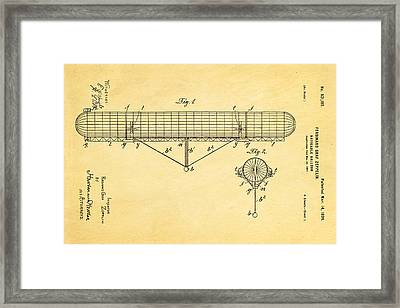 Zeppelin Navigable Balloon Patent Art 1899 Framed Print