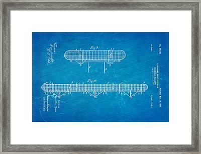 Zeppelin Navigable Balloon Patent Art 3 1899 Blueprint Framed Print