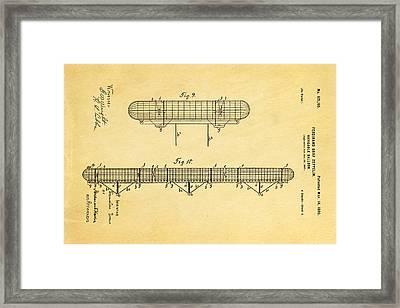 Zeppelin Navigable Balloon Patent Art 3 1899 Framed Print