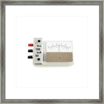 Zero-centre Ammeter Framed Print by Science Photo Library