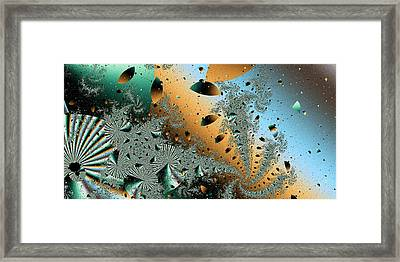 Framed Print featuring the digital art Zero Gravity by Elizabeth McTaggart