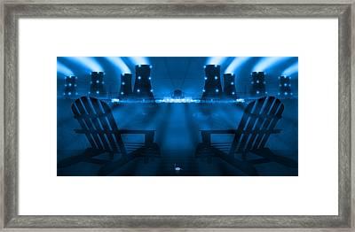 Zero Hour In Blue Framed Print by Mike McGlothlen