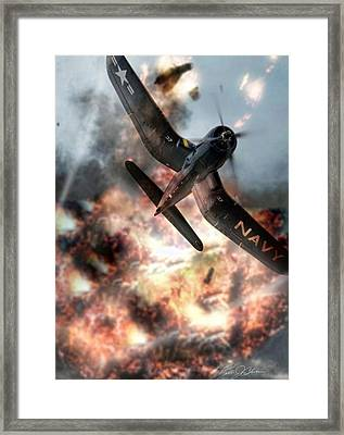 Zeroed In Whistling Death Framed Print by Peter Chilelli