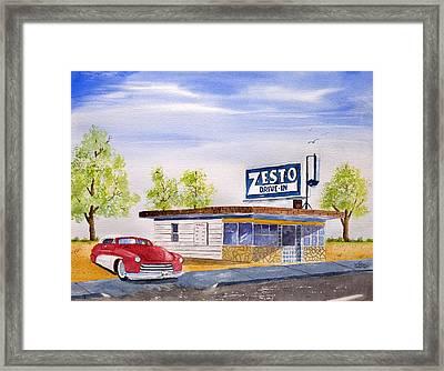 Zesto Drive In Framed Print