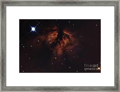 Zeta Orionis With The Flame Nebula Framed Print by John Chumack