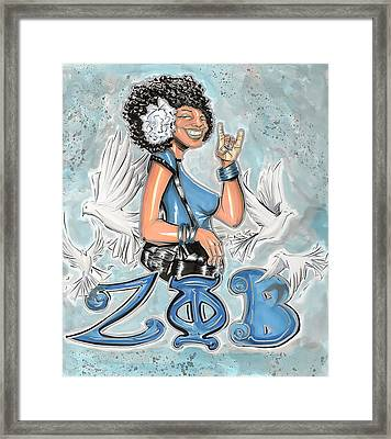 Zeta Phi Beta Sorority Inc Framed Print