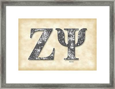 Zeta Psi - Parchment Framed Print