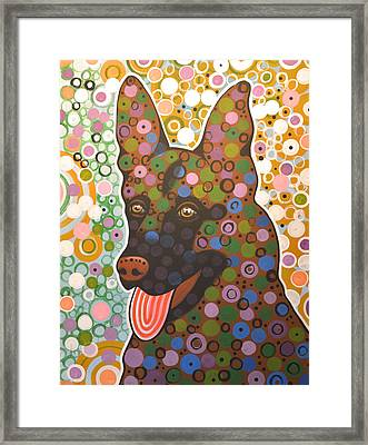 Zeus ... German Shepherd .. Abstract Dog Art Framed Print