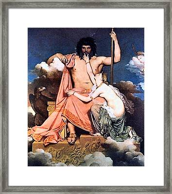 Zeus And Thetis  Framed Print by Jean Auguste Dominique Ingres