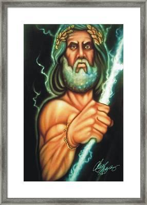 Zeus Framed Print by Christopher Fresquez
