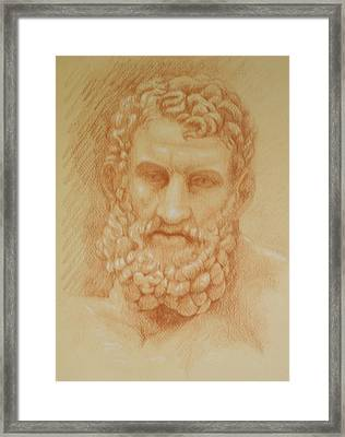 Zeus Framed Print by Deborah Dendler