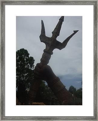 Zeus Ruler Of Mount Olympus Framed Print by Yvette Velazquez
