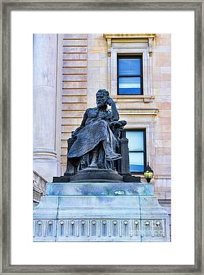 Zeus The King Framed Print