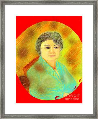 Framed Print featuring the painting Zhang Yin Queen Of Containerboards Great Chairwoman Of Nine Dragons Paper Industries by Richard W Linford