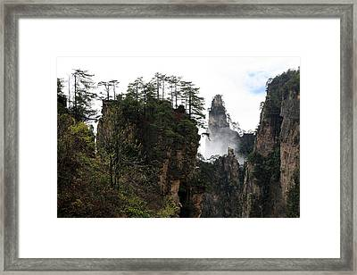 Framed Print featuring the photograph Zhangjiajie National Forest Park In China by Yue Wang