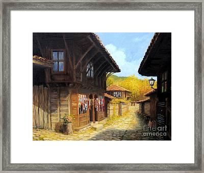 Zheravna In The Autumn Framed Print by Kiril Stanchev