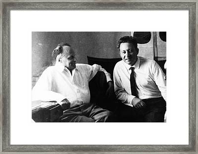 Zhores Medvedev And Vladimir Efroimson Framed Print by American Philosophical Society