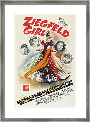 Ziegfeld Girl, Us Poster Art, From Left Framed Print