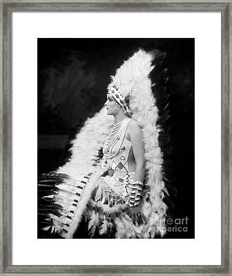 Ziegfeld Showgirl Model - Gladys Glad - Whoopee Framed Print by MMG Archive Prints