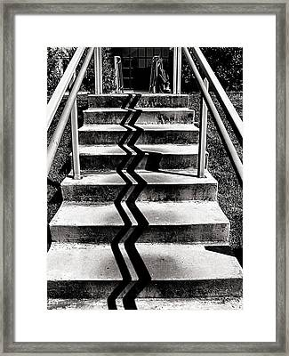 Zig Zag Framed Print by Bob Wall