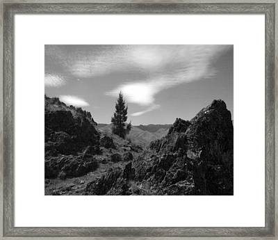 Framed Print featuring the photograph Zig Zag Sky by Tarey Potter