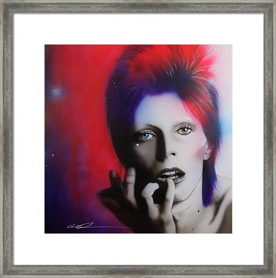 David Bowie - ' Ziggy Stardust ' Framed Print by Christian Chapman