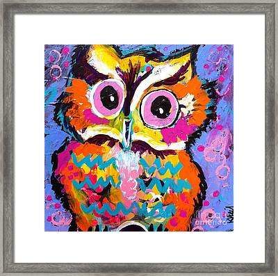 Ziggy The Great Horned Owl Framed Print