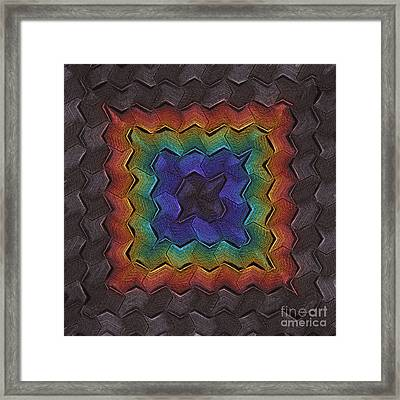 Zigzag Dark Framed Print