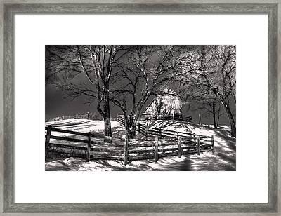 Zigzag Fencerow Framed Print by William Fields