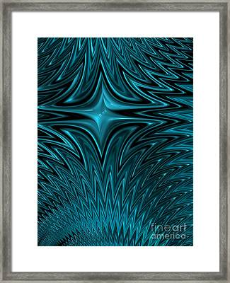 Zigzag In Blue Framed Print