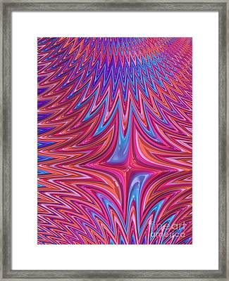 Zigzag In Red And Blue Framed Print by John Edwards