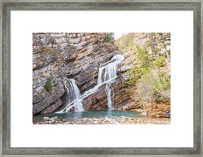 Framed Print featuring the photograph Zigzag Waterfall by John M Bailey