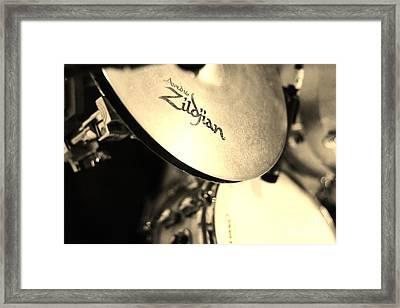 Zildjian Hi-hat Sepia Framed Print