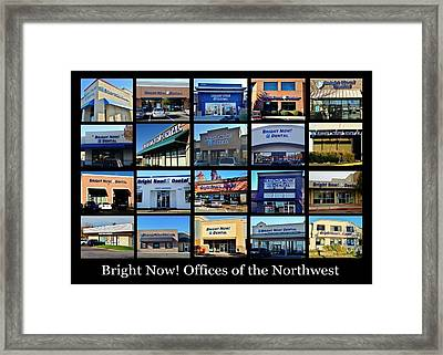 Framed Print featuring the photograph Zimmer Dental Partners With Bright Nows by Benjamin Yeager