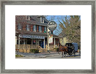 Zimmerman's Store Intercourse Pennsylvania Framed Print