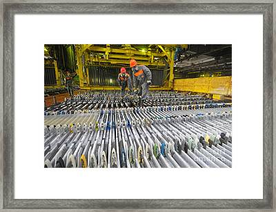 Zinc Factory Framed Print by Ria Novosti