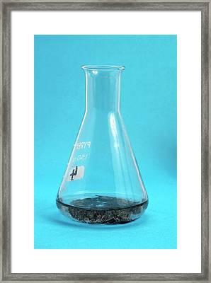 Zinc Granules In Weak Hydrochloric Acid Framed Print