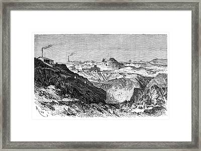 Zinc Mine Framed Print by Science Photo Library