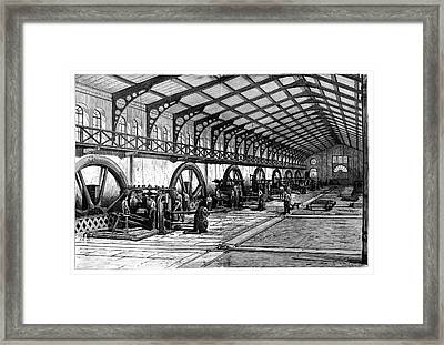 Zinc Rolling Mills Framed Print by Science Photo Library