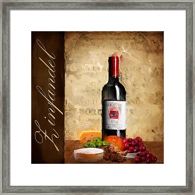 Zinfandel IIi Framed Print by Lourry Legarde