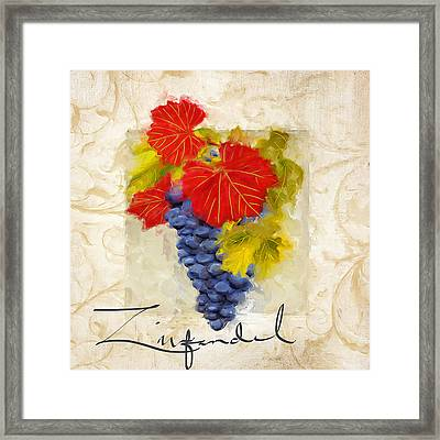 Zinfandel Framed Print by Lourry Legarde